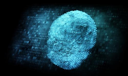 Scan of fingerprint